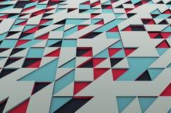 Abstrakt begrepp färgad yttersida med trianglar Royaltyfri Bild