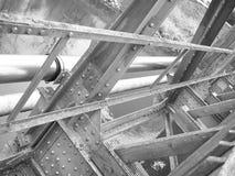 Abstrakt begrepp för brokonstruktion Arkivfoto