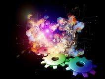 Abstrakt begrepp för Digital teknologi royaltyfri illustrationer