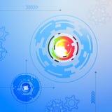 Abstrakt begrepp för färg för former för vektorteknologifractal Stock Illustrationer