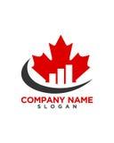 Abstrakt begrepp för försäkring för Kanada investeringaffär Arkivbilder