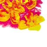 Abstrakt begrepp för guling för målningvattenfärgblommor vektor illustrationer