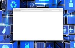 Abstrakt begrepp för internetwebbläsare Royaltyfria Foton