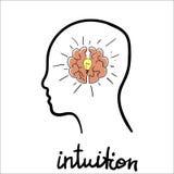 Abstrakt begrepp för intuition royaltyfri illustrationer