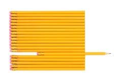 Abstrakt begrepp för ledningsblyertspenna Arkivfoton