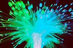Abstrakt begrepp för ljus för fiberoptik Royaltyfria Bilder