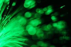 Abstrakt begrepp för ljus för fiberoptik Arkivfoto
