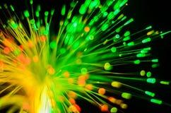 Abstrakt begrepp för ljus för fiberoptik Royaltyfria Foton