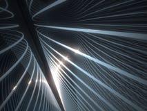 Abstrakt begrepp för optisk fiber Arkivfoton