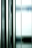 Abstrakt begrepp för rostfritt stålrör Arkivbild