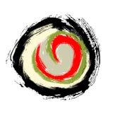 Abstrakt begrepp för sushirulle stock illustrationer