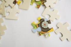 Abstrakt begrepp för teamwork för beslut för bakgrundsfigursågdel Royaltyfri Bild