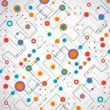 Abstrakt begrepp för technplogybakgrundsnätverk vektor illustrationer