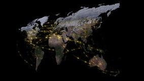 abstrakt begrepp för tolkning 3D av världsnätverket, internet och det globala anslutningsbegreppet Beståndsdelar av denna avbilda Arkivbilder