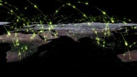 abstrakt begrepp för tolkning 3D av världsnätverket, internet och det globala anslutningsbegreppet Beståndsdelar av denna avbilda Arkivfoton