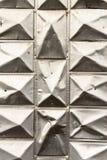 Abstrakt begrepp för vägg för triangelmetallbakgrund Royaltyfri Foto