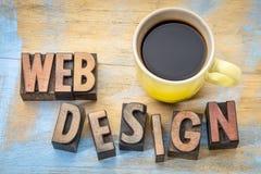 Abstrakt begrepp för Websitedesignord i wood typ Arkivbild