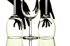 Abstrakt begrepp för Wineexponeringsglas Royaltyfri Bild