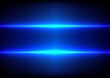 Abstrakt begrepp förhäxer ljus - blå effektblåttteknologi Arkivbild