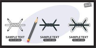 abstrakt begrepp förse med en hulling begreppsmässig designillustrationtråd Royaltyfri Fotografi
