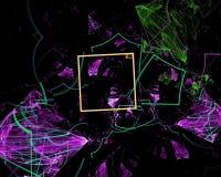 Abstrakt begrepp fantasi, digital bakgrund, fractal, maktvetenskap stock illustrationer