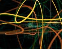 Abstrakt begrepp fantasi, för begreppsdesign för kurva digital grafisk bakgrund för energi för stil, fractal, maktvetenskap vektor illustrationer