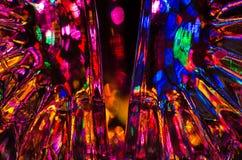 Abstrakt begrepp: Fantasibakgrund av ljust och färgrikt ljus Royaltyfria Bilder