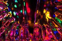 Abstrakt begrepp: Fantasibakgrund av ljust och färgrikt ljus Royaltyfria Foton