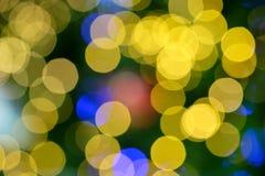 Abstrakt begrepp firar ljus bokeh Fotografering för Bildbyråer