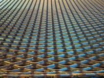Abstrakt begrepp fodrar och den industriella metallingreppsmodellen Arkivbilder