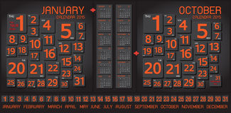 Abstrakt begrepp för kalender 2015 och konstbakgrund Royaltyfri Fotografi