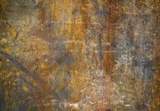 Abstrakt begrepp frambragd texturerad rostmetallyttersida Arkivbild