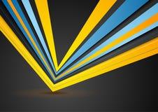 Abstrakt begrepp gör randig företags geometrisk bakgrund Royaltyfri Foto