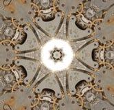 Abstrakt begrepp Gammal mekanism av klockan Royaltyfri Fotografi