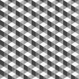 Abstrakt begrepp geometrisk bakgrund, monokrom kub Royaltyfri Foto