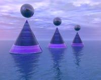 abstrakt begrepp håller flytande havet Arkivfoto