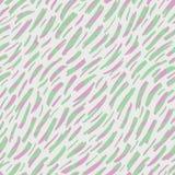 Abstrakt begrepp Hand-dragen modell för vektor för djur hud sömlös Organiska fragment Nyckfull diagonal bandtextur pastell stock illustrationer