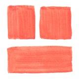 Abstrakt begrepp hand-dragen verklig vattenfärgapelsinbakgrund Royaltyfri Bild