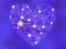 Abstrakt begrepp hjärta-formad bokeh Royaltyfri Foto