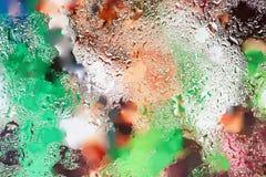 Abstrakt begrepp i ljusa färger planlägger beståndsdelen med den verkliga ljusa reflexionen för banret, trycket, mallen, rengörin Royaltyfri Bild