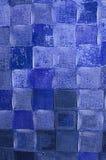 Abstrakt begrepp i skuggor av blått Arkivbild