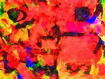 Abstrakt begrepp i vattenfärg på papper Arkivbilder