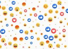 Abstrakt begrepp isolerade emojibakgrundssymboler vektor illustrationer