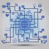 Sociala massmediabeståndsdelar Arkivbild
