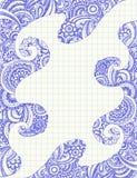 abstrakt begrepp klottrar anteckningsboken sketchy paisley royaltyfri illustrationer