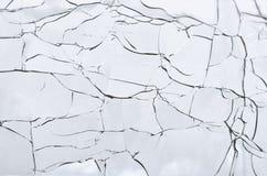 Abstrakt begrepp - knäckt exponeringsglas Arkivfoton