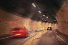 Abstrakt begrepp knäckt snabb körning för tunnel Fotografering för Bildbyråer