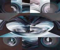 Abstrakt begrepp konst målning diagram abstraktion bild royaltyfri illustrationer