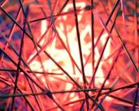 Abstrakt begrepp kontrasterad plats 3d med neonljus Arkivbilder