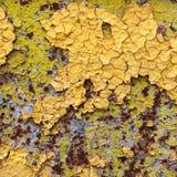 Abstrakt begrepp korroderade målarfärg för skalning för väggen för färgrikt järn för tapetgrungebakgrund rostig konstnärlig Arkivbilder